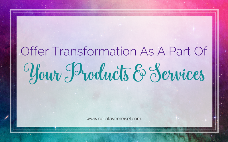 Offer Transformation as a part of your Products and Services