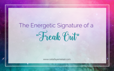 """The Energetic Signature of a """"Freak Out"""""""