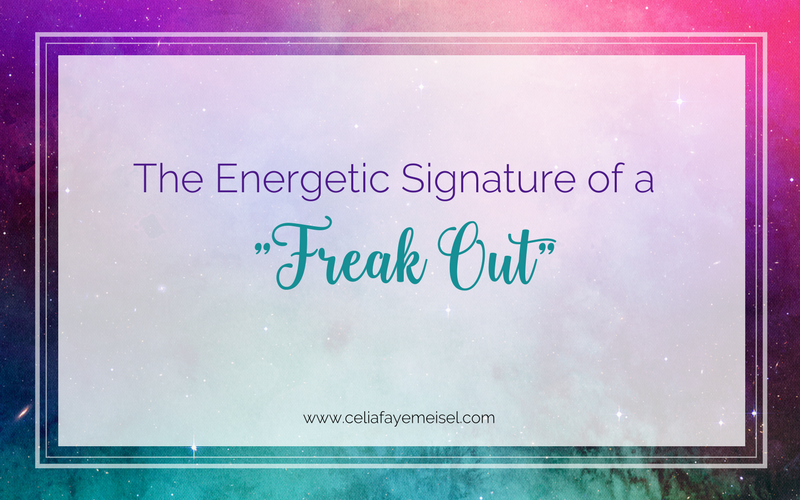 "The Energetic Signature of a ""Freak Out"""