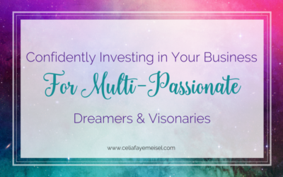 Confidently Investing In Your Business for Multi-Passionate Dreamers & Visionaries