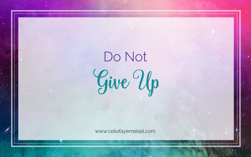 Do Not Give Up by Celia Faye Meisel
